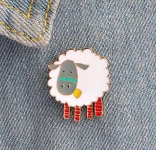 Sheep With Orange Legs Lapel Pin product image