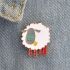 Sheep With Orange Legs Lapel Pin preview image