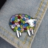 Yarn Ball Sheep Lapel Pin preview image