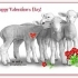 Valentines Whisper Lambs Cards product image