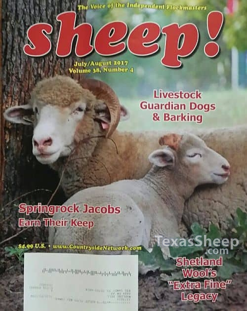 July/August 2017 Issue of Sheep! Magazine cover image