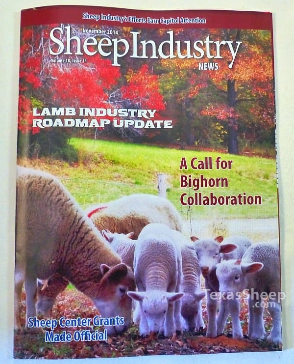 November 2014 Issue of Sheep Industry News Magazine cover image