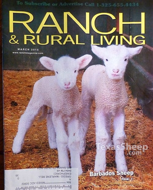 March 2015 Issue Ranch & Rural Living Magazine cover image